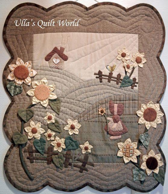 Quilt mondiale de Ulla: Sue Bonnet courtepointe - tenture