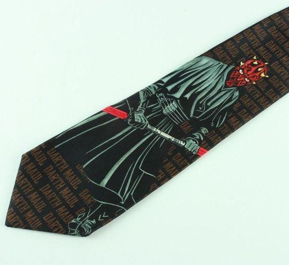 Darth Maul Star Wars Mens Tie Necktie Ralph Marlin Party Black Episode 1 #StarWars #NeckTie