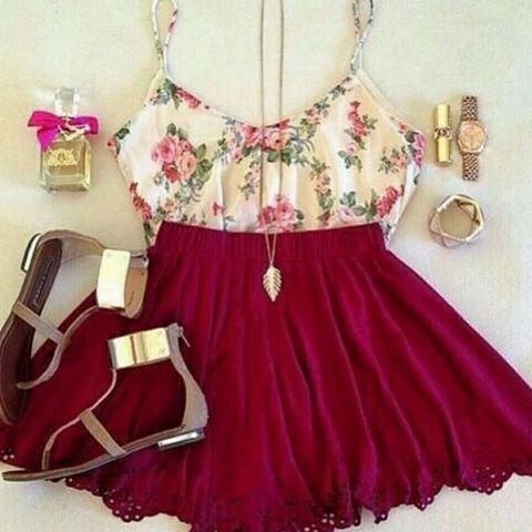 Vestido Feminino De Verão Curto Floreado Em Chiffon Com Alças