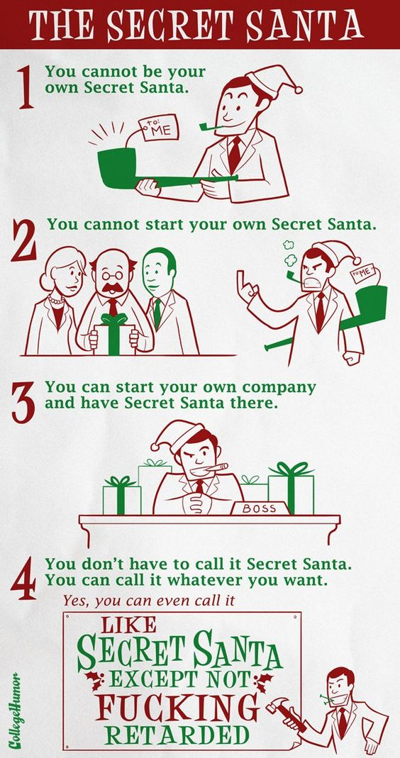 Insignificant knowledge secret santa official rules holiday pinterest posts blog and - Best gifts for office secret santa ...