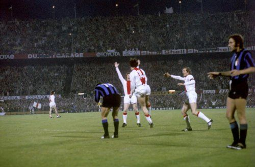 Ajax 2 Inter Milan 0 In May 1972 In Rotterdam Johan Cruyff Celebrates His 2nd Goal In The European Cup Final