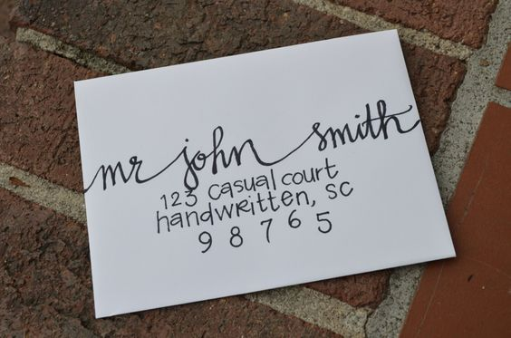 Handwritten Calligraphy For Party Or Wedding Invitations