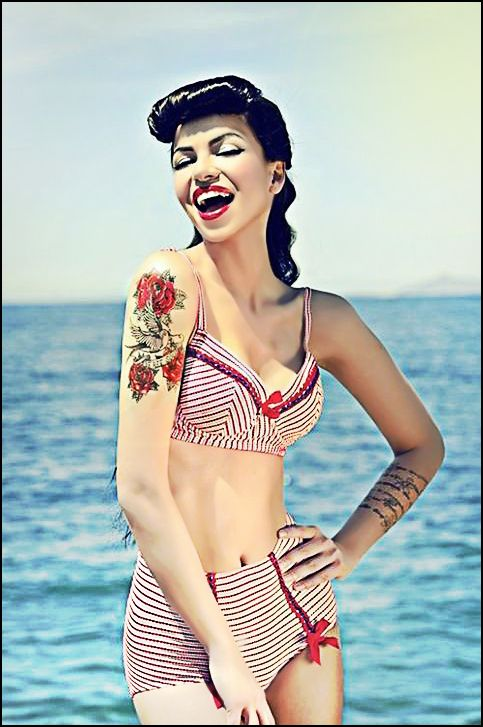#pinup #pinuphair #pinupstyle #hairstyle www.doctoredlocks.com