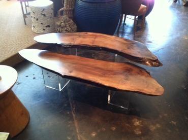 Mecox Gardens - Claro Walnut Nesting Coffee Table Detail