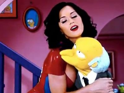 Katy Perry and Mr. Burns