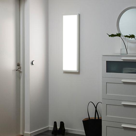 Floalt Led Light Panel Dimmable White Spectrum 12x35 Ikea In 2020 Led Panel Light Light Panel Fake Window Light