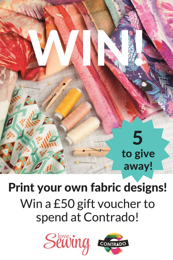 Print your own fabric! Win a £50 voucher to spend at @contradouk - print your own voucher