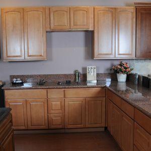 Honey Spice Maple Kitchen Cabinets Cabinet Solid Wood Kitchen Cabinet Cabinet Supplier