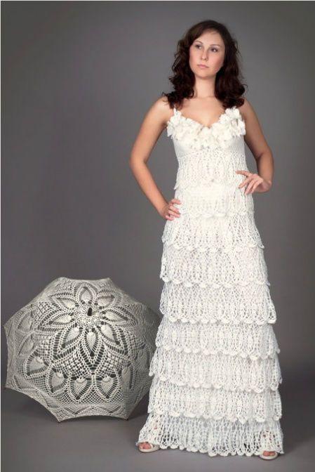 vestido de noiva de crochê: