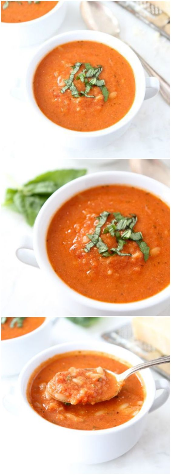 Orzo soup, Orzo and Creamy tomato soups on Pinterest