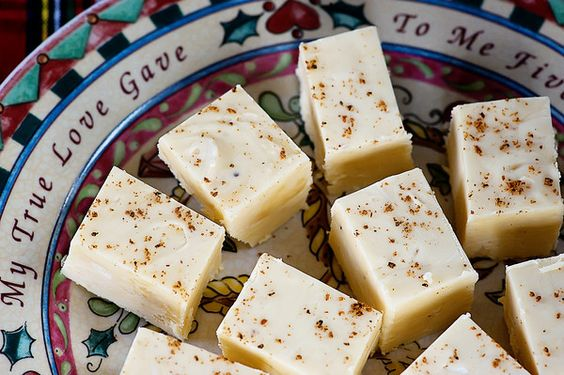 Eggnog Fudge.  I have to try this.