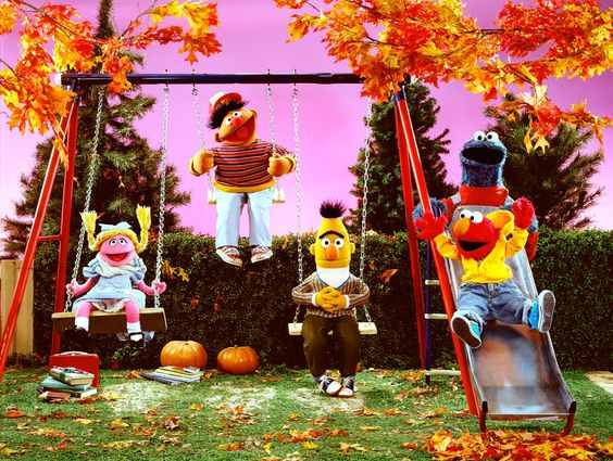 "Sesame Street on Twitter: ""Bring on the sweaters, colorful leaves, and fun fall activities! #October1st… """
