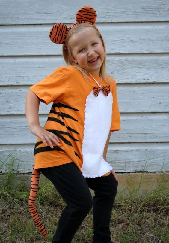 Diy Tiger Halloween Costumes For Infant And Toddler In 2019
