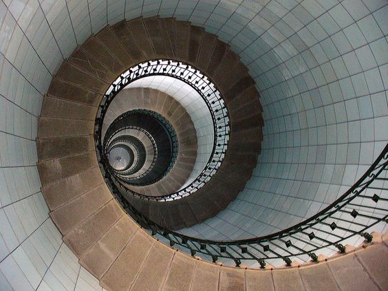 """Spiral Lighthouse Staircase """"400 steps to the Lantern"""""""
