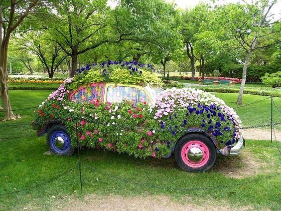 Arkitektur arkitektur garden : Cars Flower Garden   Garden Design   Pinterest   Trädgårdar, Bilar ...