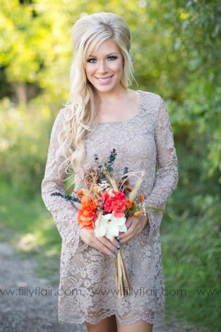 A beautiful lace bridesmaid dress for your fall outdoor for What to wear to a fall outdoor wedding