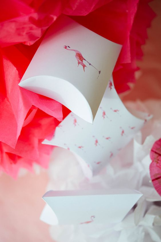 DIY boite cadeau anniversaire : prêt à télécharger et à imprimer, tuto avec explications | Flamingo party #2 | vanessa pouzet le blog