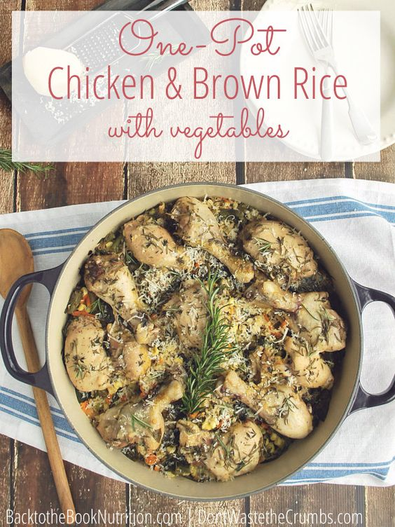 version of chicken and rice casserole, this one pot chicken and rice ...