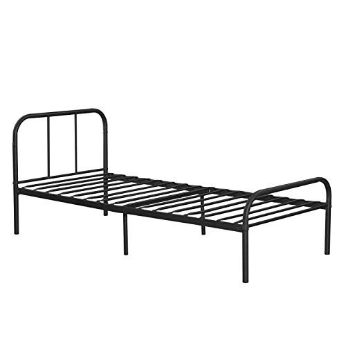 Twin Size Metal Bed Frame Heavy Duty Steel Home Furniture Bedroom Foundation Twin Size Metal Bed Frame Metal Bed Frame Metal Beds