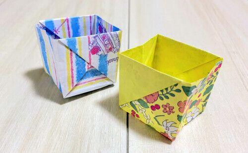 折り紙 長方形の紙で折る丈夫な箱の折り方 Weboo ウィーブー 暮らしをつくる 箱 折り方 折り紙 紙