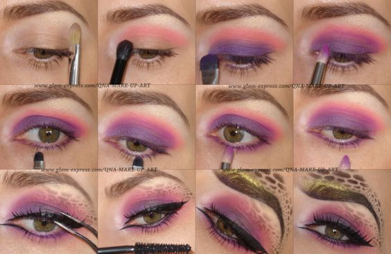 Animal Print Cat Eyes - Tutorial  with @nalbantova VISIT SITE FOR DETAILS   #bbloggers #youtubers #beauty #eye #makeup #howto #tutorial #animalprint #cat #cateyes #liner #wingedliner #lashes #pinkmakeup #purplemakeup #editorialmakeup #brows #wowbrows #ProMUA