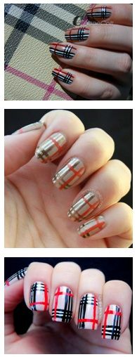 10 Burberry Inspired Nail Art Designs