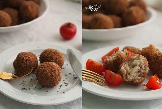 HAPPYFOOD - Аранчини с моцареллой и пряными травами (готовлю в сковороде-вок iCookTM)