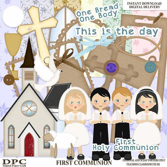 Digital scrapbooking freebies first communion
