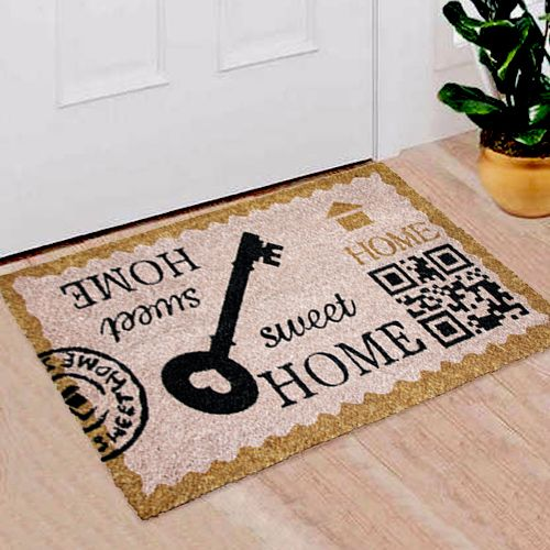 Natural Coir Door Mats With Attractive Printed Designs To Welcome Your Guests The Tough Hardwearing Coir Brush Surfaces Keeps The D With Images Door Mat Coir Coir Doormat