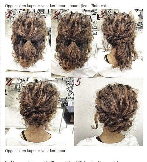 Pin Von Vera Wegerif Auf Haar Ideeen Mittellange Haare Frisuren Hochzeit Hochzeitsfrisuren Lange Haare Hochsteckfrisuren Halblange Haare