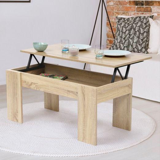 Table Basse Haªtre Avec Plateau Relevable Cielterre Commerce Table Basse Table Basse Avec Plateau Relevable Table A Manger Pratique