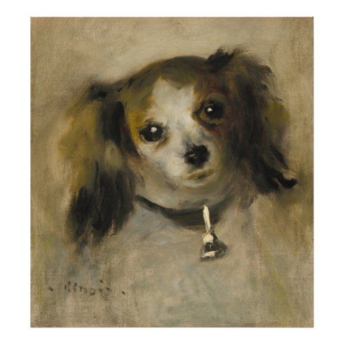 Head Of A Dog 1870 Oil On Canvas Poster Zazzle Com Pierre