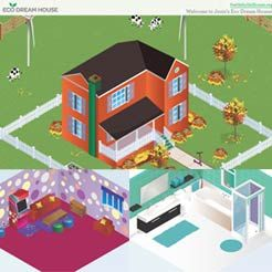 Girl scouts online games and design on pinterest for Build and design your own home game