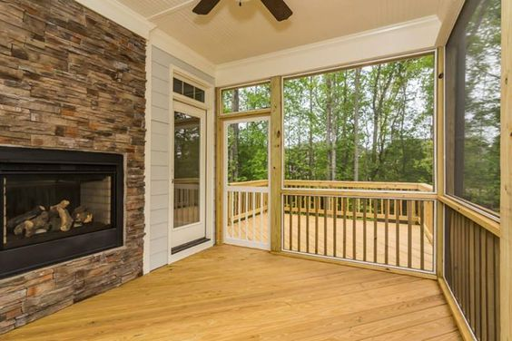 Southern pines screened porch