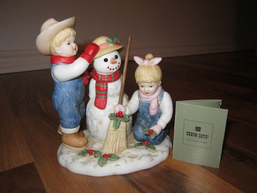 Home interior denim days 56072 03 holiday time snowman Home interiors denim das