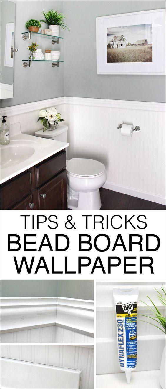 Bead Board Wallpaper The Best Easiest Alternative To The Real Thing Beadboard Wallpaper Beadboard Bathroom Beadboard