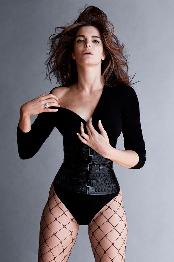 Stephanie Seymour as one of Carine Roitfeld's 19 icons for BAZAAR's September issue. See the full shoot here.