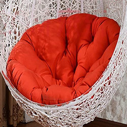 Enjoy Exclusive For Tina S Swing Chair Cushion Round Fluffy Cotton Wicker Hanging Egg Chair Cushions Pad Patio Garden Red 105x105cm 41x41inch Online Annetre In 2020 Hanging Egg Chair Swinging Chair Chair Cushions