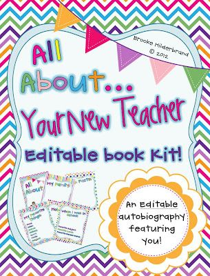 Once Upon a First Grade Adventure: Introducing...me! All About Your New Teacher! {Editable Book Kit}