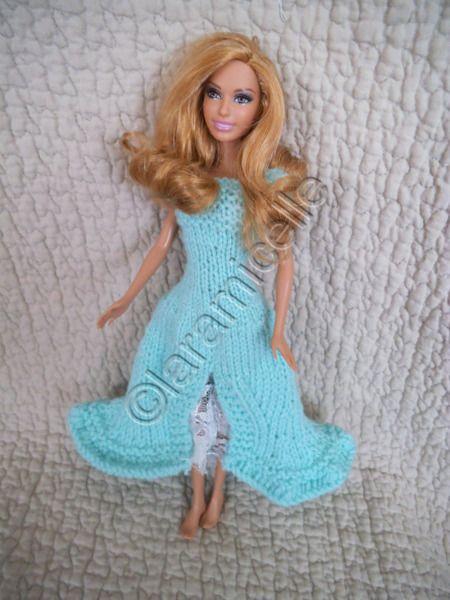 tuto gratuit barbie robe tricot en forme et en dentelles tricot pinterest barbie et. Black Bedroom Furniture Sets. Home Design Ideas