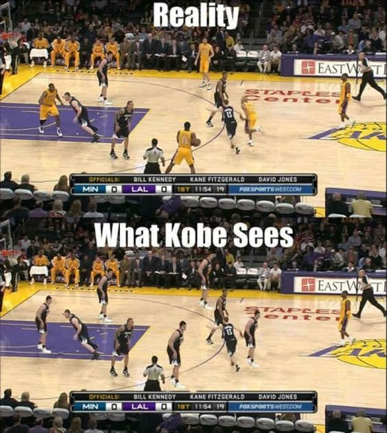 What Kobe Sees vs. Reality