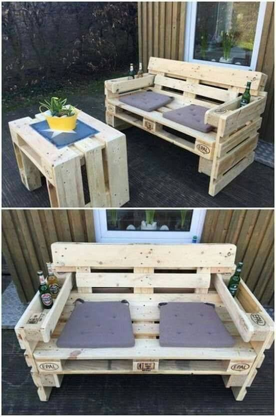 Pallet Sofa Instructions Pallet Furniture In 2019 Wood