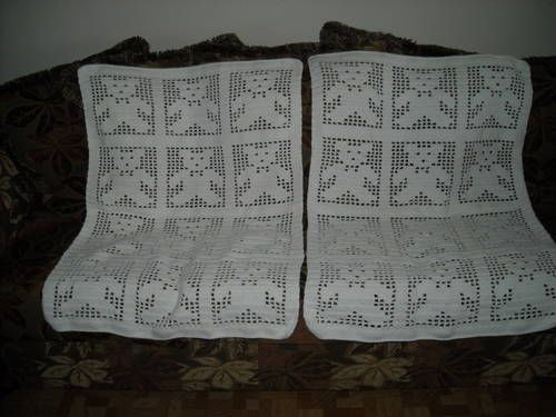 Teddy Bears Filet Crochet Blankets - CROCHET Decor ideas ...