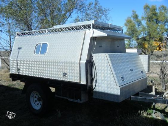 off road camping trailer box camper trailer custom made other vehicles for sale dinkos. Black Bedroom Furniture Sets. Home Design Ideas