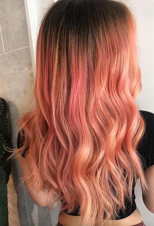 67 Pretty Peach Hair Color Ideas How To Dye Your Hair Peach