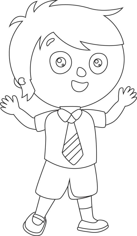Child Student Coloring Page Coloring Pages For Boys Coloring Pages For Kids Coloring Pages