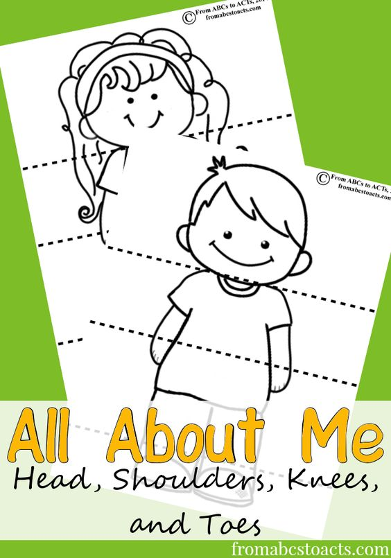Head, Shoulders, Knees and Toes Printable Activity for Preschoolers - From ABCs to ACTs