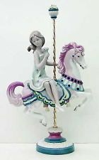 Lladro FINE PORCELAIN FIGURINES GIRL ON CAROUSEL HORSE