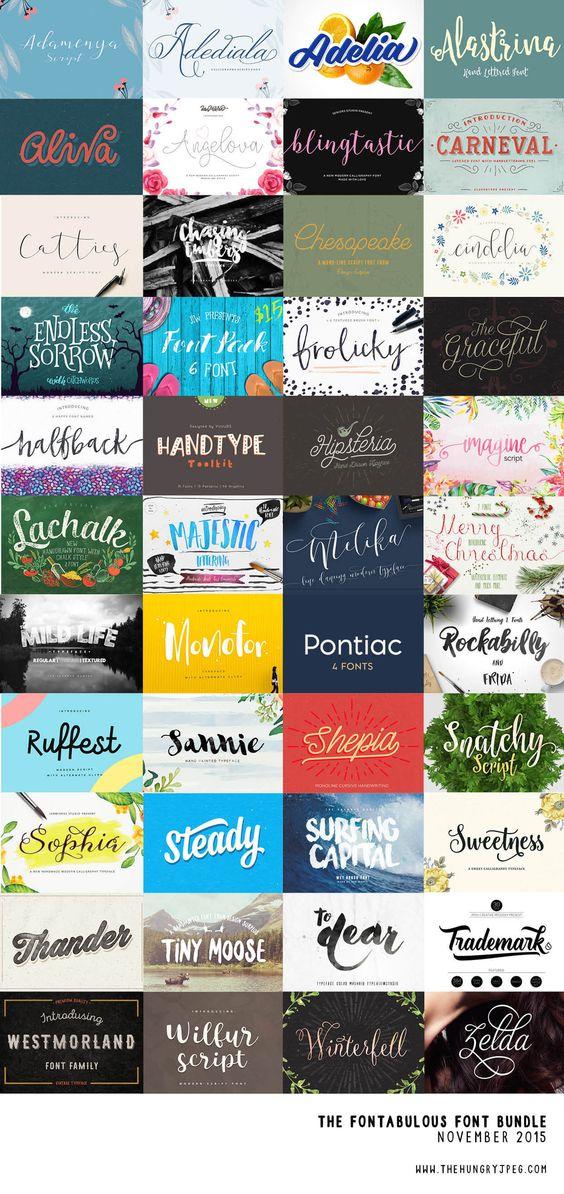 The Fontabulous Font Bundle (76 fonts for just $29!)