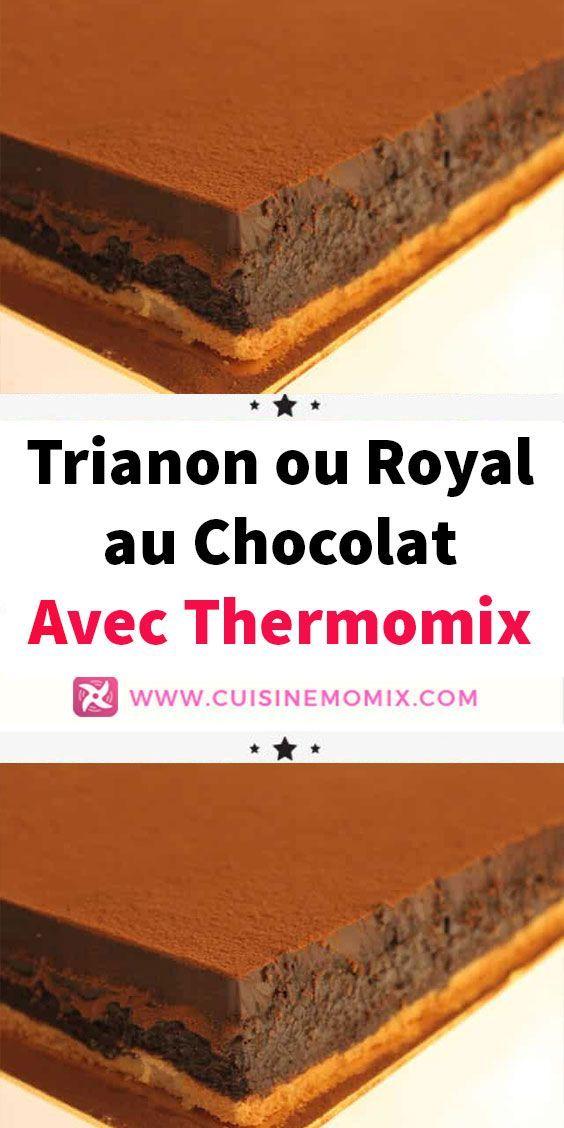 Desserts Noel Trianon Ou Royal Au Chocolat Avec Thermomix Croquant Au Chocolat Recette Thermomix Dessert Royal Chocolat